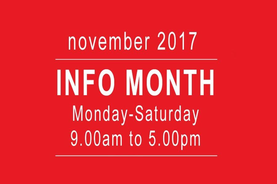 November an INFO MONTH!